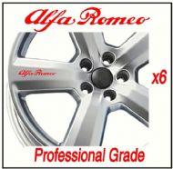 ALFA ROMEO CAR WHEEL DECALS